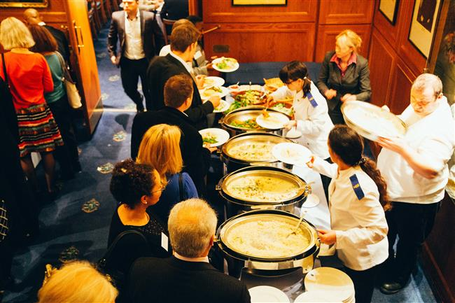 Food being served to guests