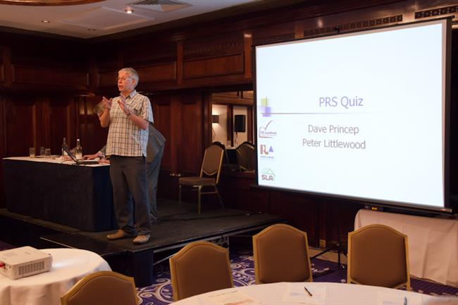 Dave Princep officiating the PRS Quiz