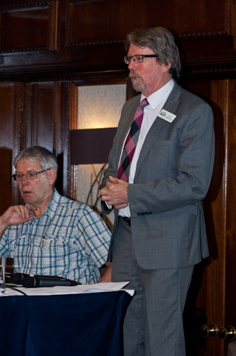 Peter Littlewood responding to a question during the Q& A session