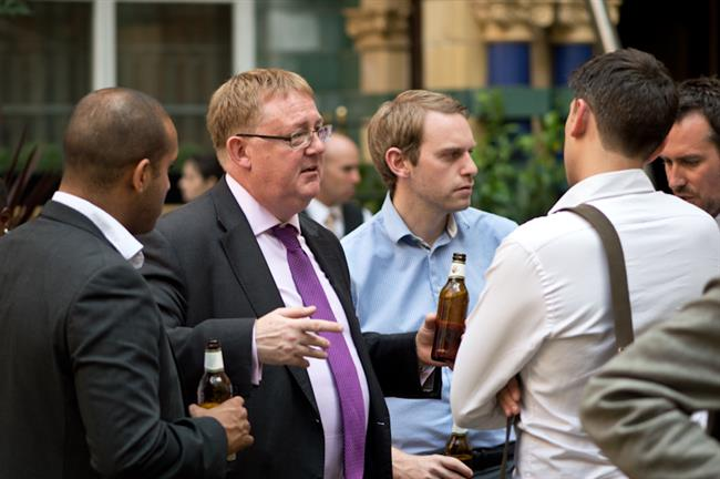 Sean Hooker from (the property redress scheme) one of our sponsors networking with guests