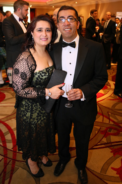 Nish and Bhavna Dattani from Green Assessors-sponsor of Green Agent Award